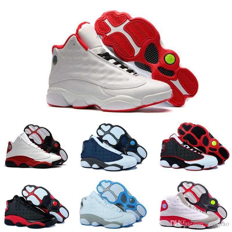 fd0967271e Compre Sapatos De Grife Sapatos De Basquete 13 Chicago Preto Branco Espaço  Jam 11 Blackout Ginásio Vermelho Meia Marinha Da Marinha Dos Homens Das  Mulheres ...