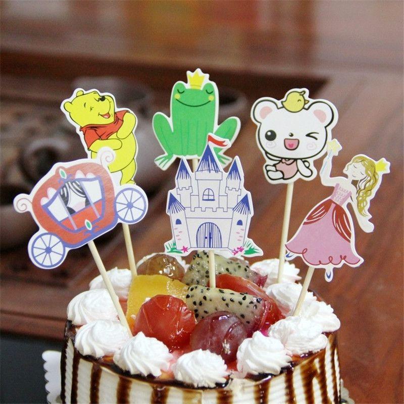 Grosshandel 30 Stucke Cartoon Auto Bier Fisch Happy Birthday Cake Topper Dekoration Kinder Geburtstag Dekorieren Pick Pock Flags Werkzeug Partei Liefert Von