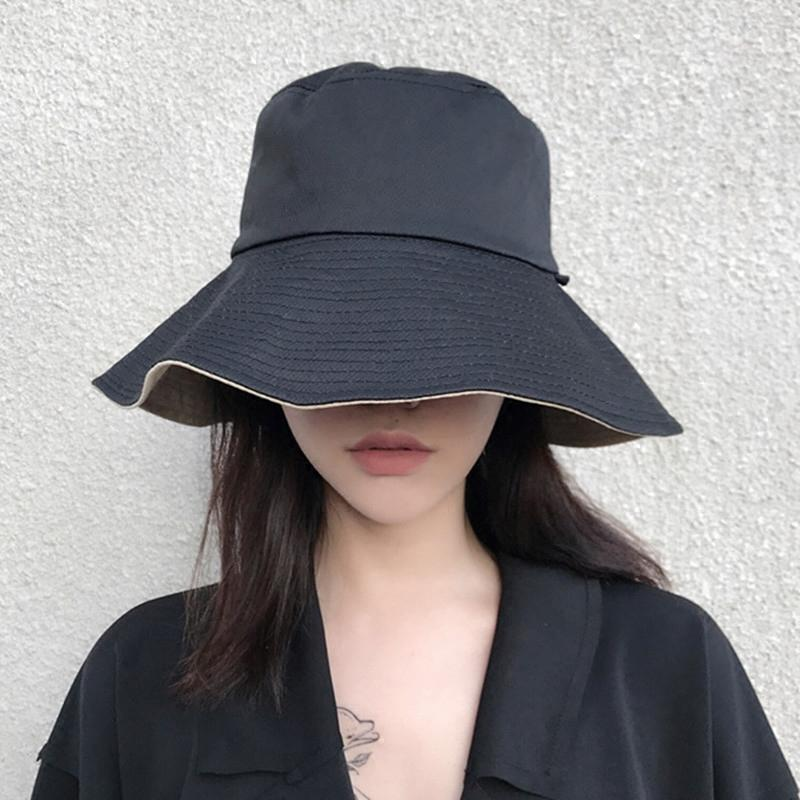 41c9a5b2e34 Women Bucket Hats Ladies Summer Sun Hat Dual Use 2018 New Japan Korean Sun  Proof Cap Harajuku All Match Caps ZZ018S50 Baby Hats Bucket Hats For Men  From ...