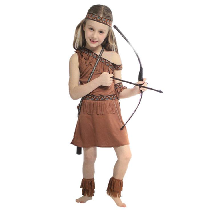 Native American Girls Cosplay Halloween Costumes For Kids Indian