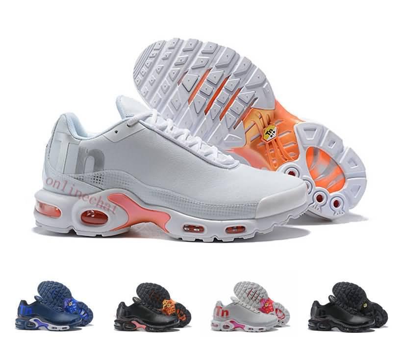 release date 56285 a1076 Compre 2019 Nuevos Hombres Mercurial Plus Tn 2 Gris Negro Blanco Naranja  Desinger Tns Zapatillas De Running Hombres Tn Zapatillas De Deporte  Zapatillas ...