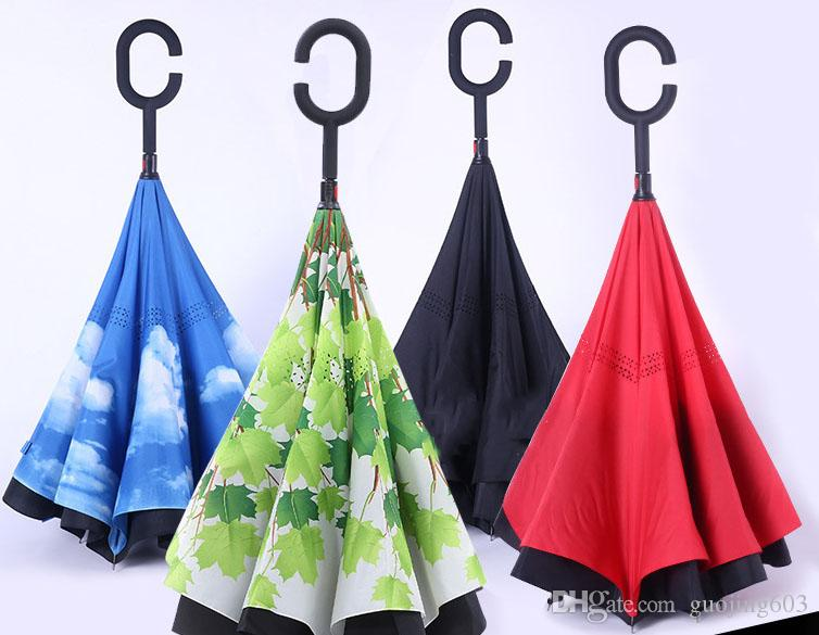 Compre Paraguas Reversible Del Paraguas Del Coche Del Paraguas Puede  Soportar La Tercera Generación Sombrilla Inversa Multicolor Entrega  Gratuita Opcional A ... 8190b1531a3