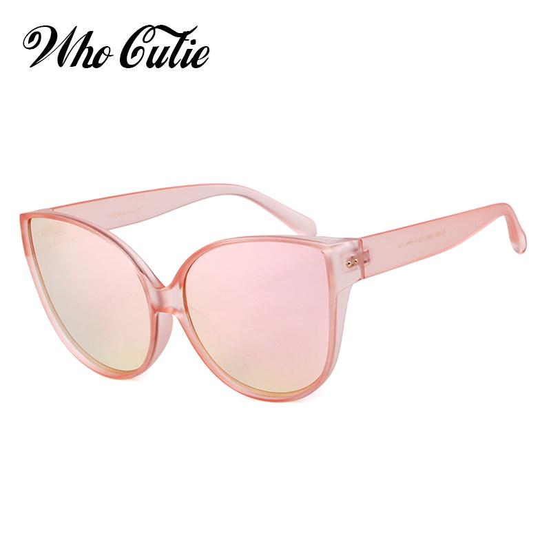 0c610513d4a38 WHO CUTIE 2018 Cat Eye Sunglasses Oversized Women Brand Designer Vintage  Sunnies Pink Top Cateye Sun Glasses Shades Oculos OM748 Locs Sunglasses  Suncloud ...