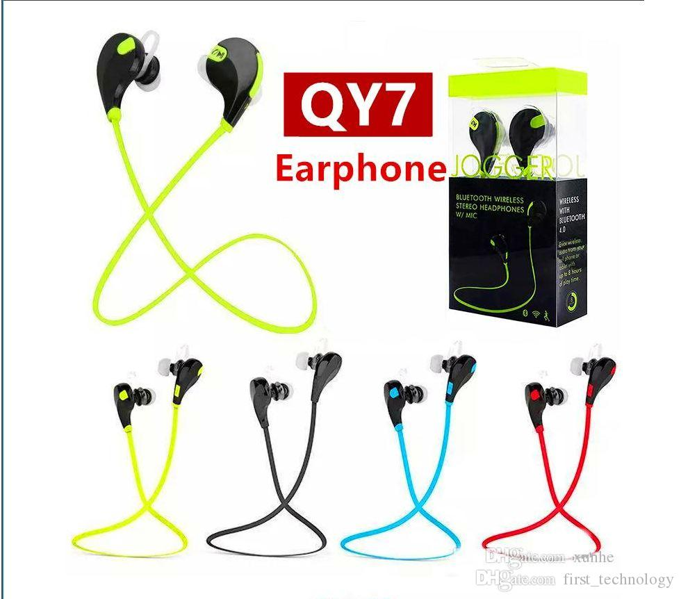 99a5c75468f New QY7 Sports Wireless Bluetooth 4.1 EDR Headphones Stereo Earphones  Headset With MIC Call Earbuds For IPhone X 8 7 Samsung Best Earbuds  Bluetooth Best ...