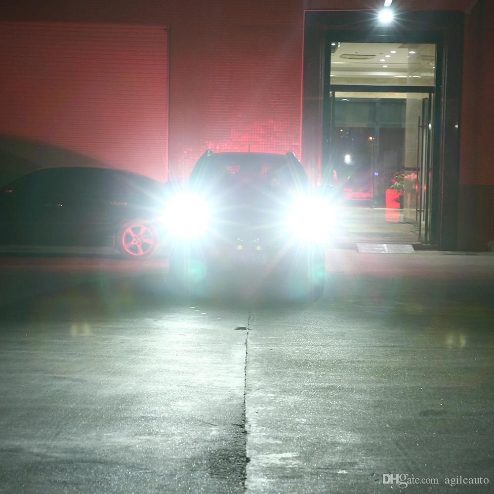 72W 9005 9006 8000LM All-In-One sin línea Bombillas de haz alto / bajo Juego de faros LED Lámparas de haz alto / bajo Lámparas LED automotrices CLT_61U