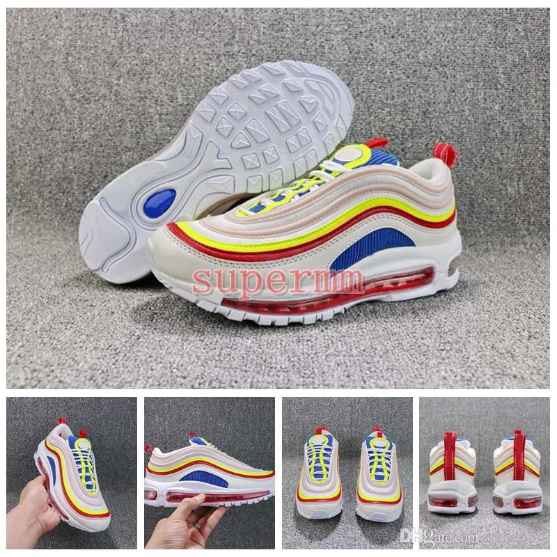 2018 SE 97 Summer Viber Womens Mens Running Shoes Womans Men Colorful Trainers 97s Sneakers OG Rainbow Trainers Designer Sports Shoes 36-45 buy online new JRo2QpxQY