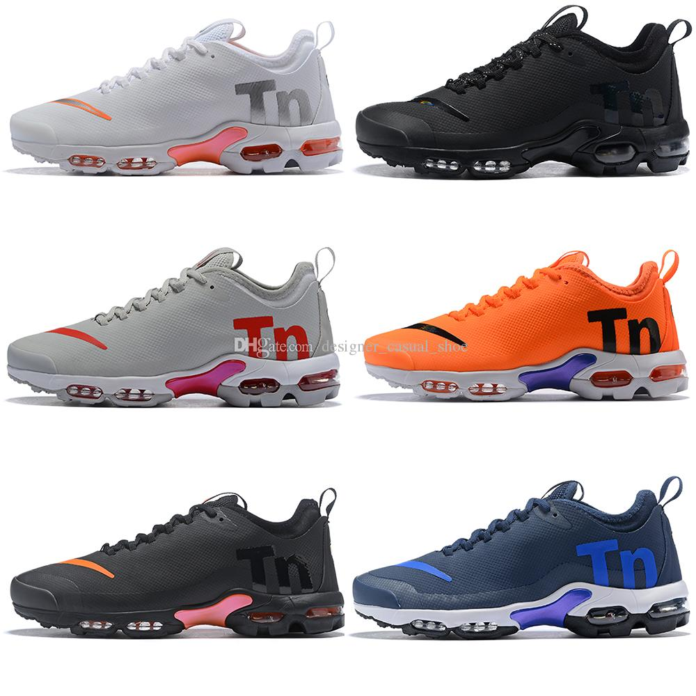 e810ba9d8a4 2018 2018 New Air Mercurial Plus Tn Ultra SE Black White Orange Running  Shoes Outdoor Fashion Women Mens Maxes Trainers Outdoor Sneakers 36 46 From  ...