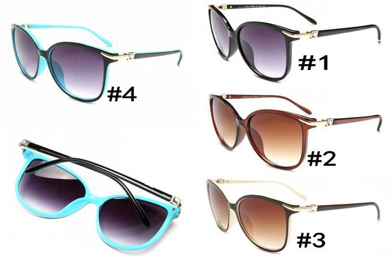 Дизайнер солнцезащитные очки бренд очки открытый оттенки PC Farme мода классический дамы роскошные солнцезащитные очки зеркала для женщин