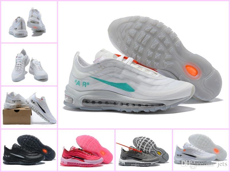 best sneakers a3bcc 2d842 Acheter 2018 Nouveau Off AIR 97 Blanc 97s Homme Et Femme Running Sneakers  270 Chaussures Blanc X Sport Sneaker Formateur Sport Taille 36 46 De   111.51 Du ...