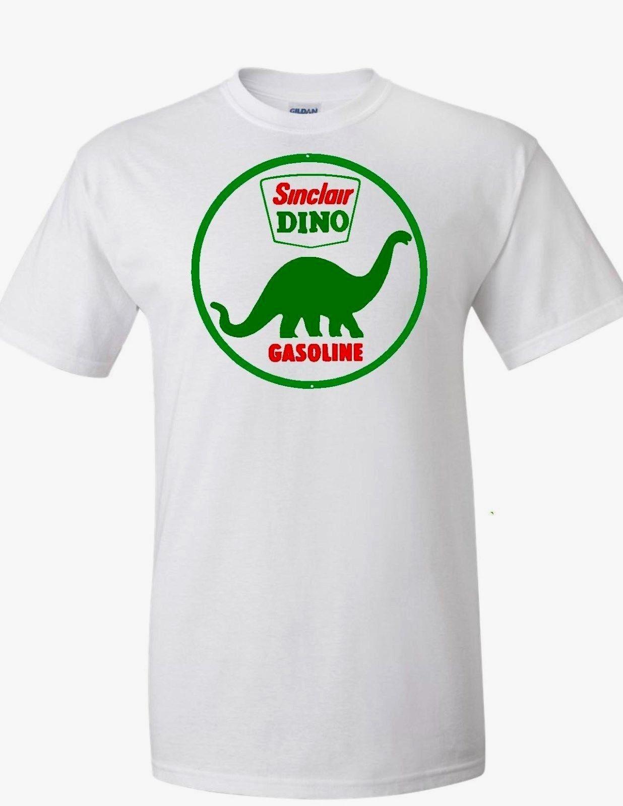 Dino Dinosaure Sinclair Gaz Essence Homme Noir Blanc Sweat Rétro