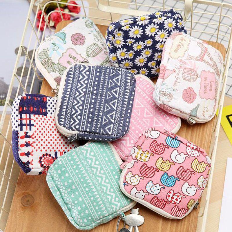 13375ef1bbf1 Canvas Beautiful Cotton Bag Organizer Storage Holder Sanitary Napkin Bag  Case Korean Style ZA6750 UK 2019 From Perfumeliang