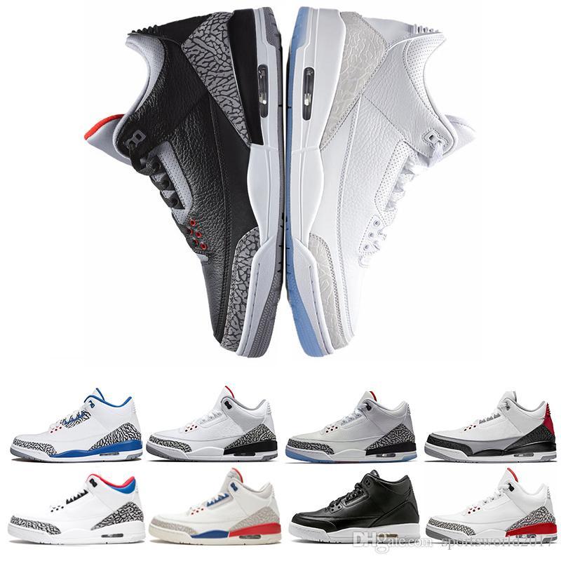 quality design d59f9 0459a Retro Air Jordan 3 Nike AJ3 3s Nuevo Tinker NRG Hombre Zapatillas De  Baloncesto Para Hombres Corea Del Vuelo QS Katrina Grateful Dunk Contest  Blanco Cemento ...
