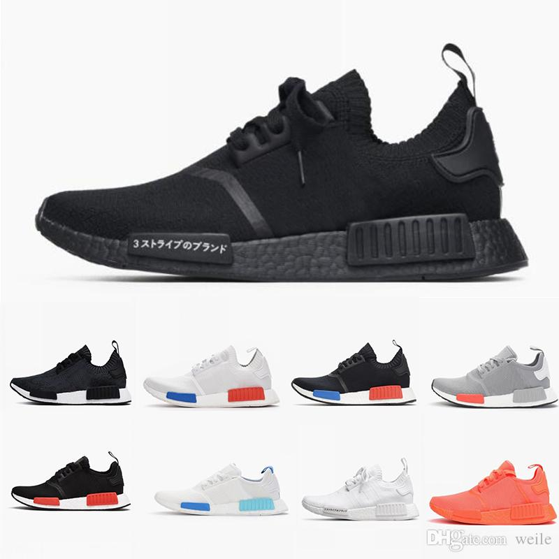 official photos 9979e f7181 2018 NMD R1 Oreo Runner NBHD Primeknit OG Triple black White Camo Running  shoes For Men Women Nmds Runners Sports Sneakers Shoe 36-45