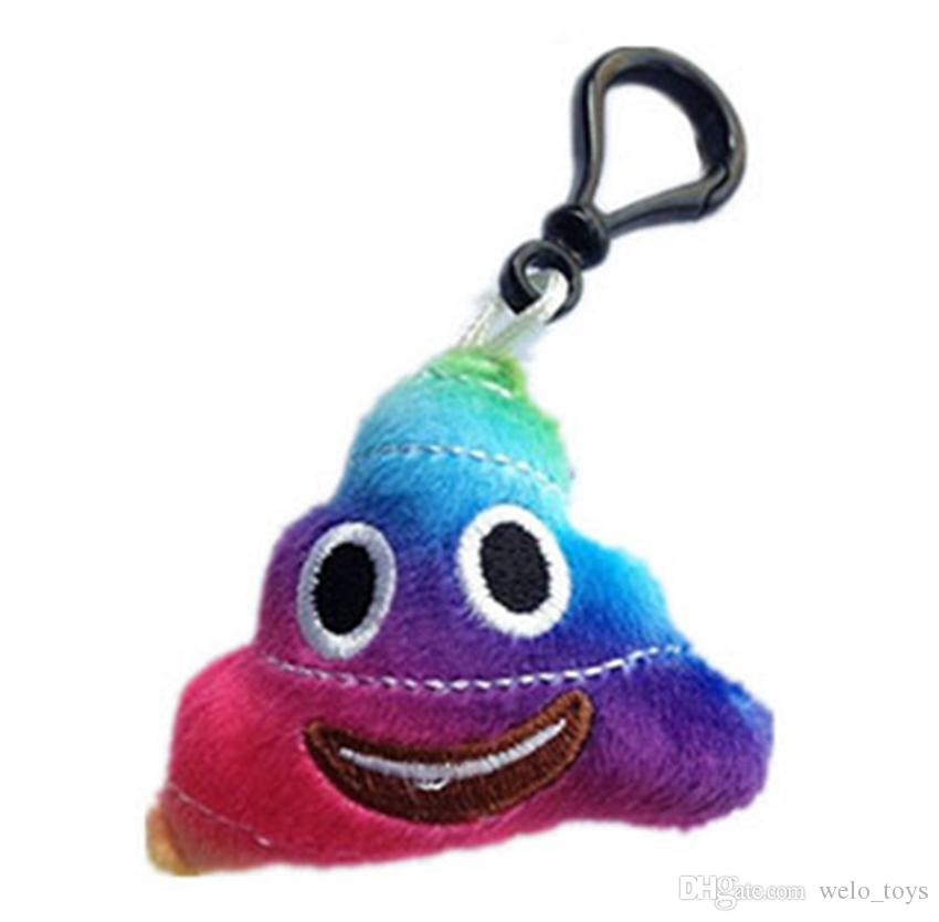 QQ Emoji Brinquedos De Pelúcia Chaveiros Engraçado Merda Poop Recheado Brinquedos QQ Expressão Pingente Chaveiro Bonecas 6 cm