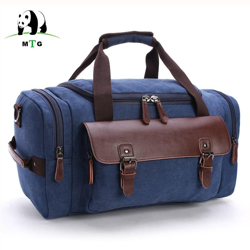 aebf6a343204 Canvas Men Vintage Travel Bags Carry on Luggage Bags Male Duffel ...