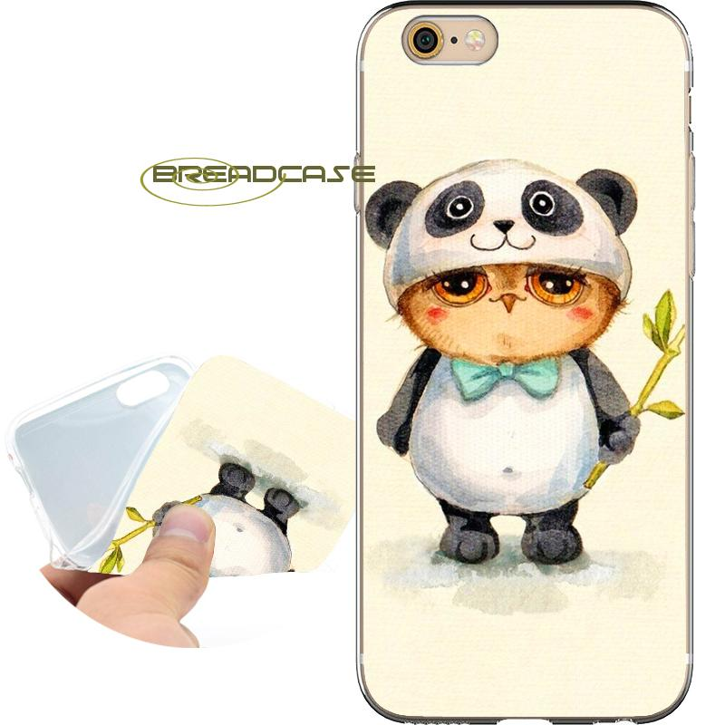 87b550da71b Coque Panda Funny Owls Shell Cases For IPhone 10 X 7 8 6S 6 Plus 5S 5 SE 5C  4S 4 IPod Touch 6 5 Clear Soft TPU Silicone Cover.