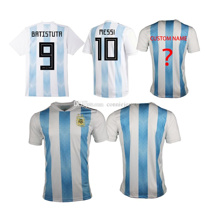 brand new 25418 fb87d Argentina Soccer Jersey 2018 Argentina Jerseys Home soccer Shirt #10 MESSI  #9 AGUERO #11 DI MARIA football uniform thai quality
