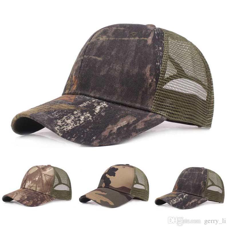 305dc98f315 Unsiex Camouflage Mesh Baseball Cap Chapeau Men Adjustable Sunscreen Ball  Caps Women Sunshade Cap For Outdoor Travel Mesh Hats Hats Online with   5.69 Piece ...