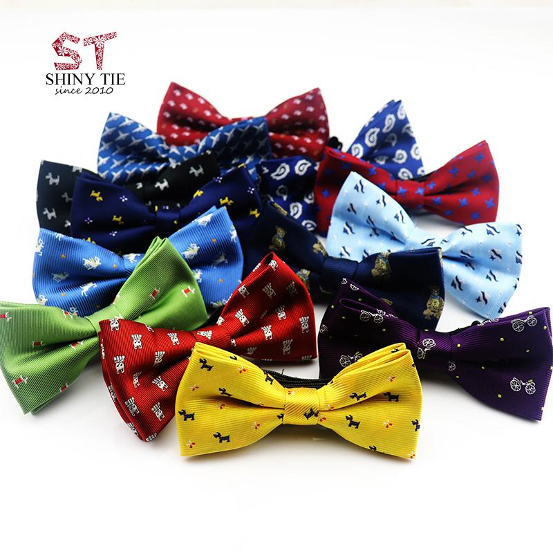 572afbef3ff88 Yiyanyang Handmade Children Bowtie Polyester Baby Kids Bow Ties 10*5cm  Fashion Dot Animal Printed Adjustable Elastic Butterfly