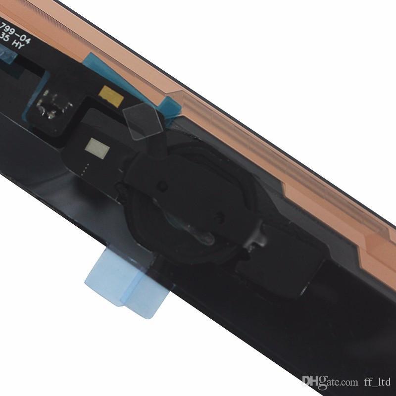 Para iPad Air Touch Panel Pantalla Cristal digitalizador con repuestos de botón de inicio para iPad 5 con adhesivo