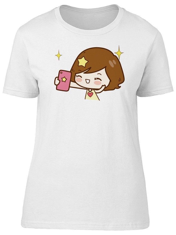 8699a92d Compre Chica De Dibujos Animados Tomando La Camiseta Para Mujer Selfie  Imagen De Shutterstock A $11.56 Del Bincheng3 | DHgate.Com