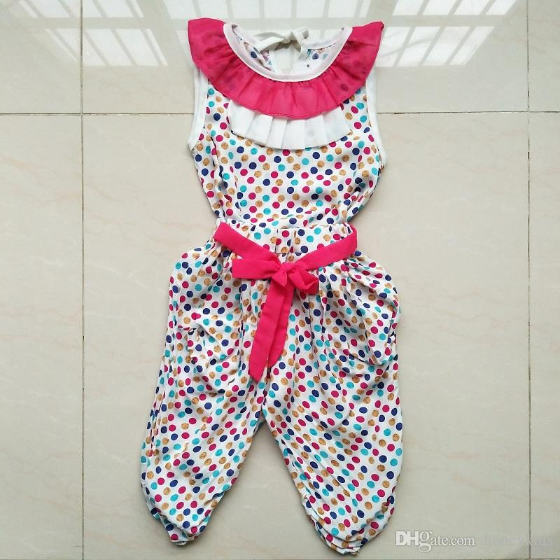 a5fc85240610 Girls Sets Kids Clothing 2018 Summer Sleeveless Vest Polka Dot T ...