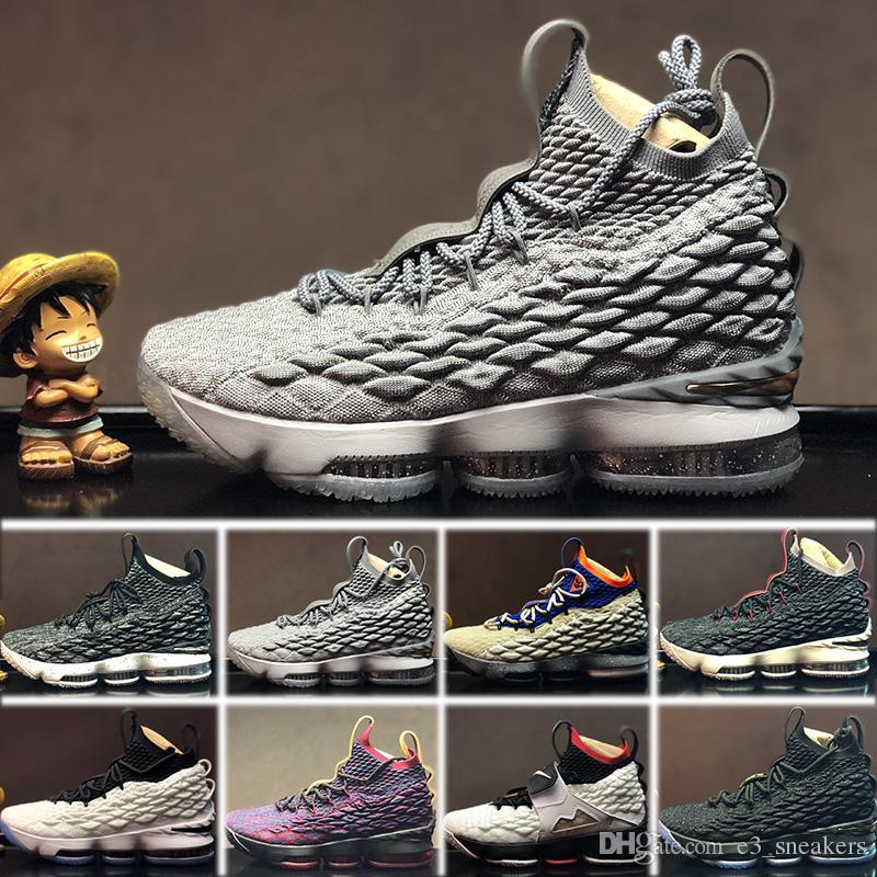 more photos a419b 8b007 Compre 2018 Nike Lebron 15 LBJ15 Nuevos Hombres De La Llegada XV Le 15  IGUALDAD Zapatillas De Baloncesto Blancas Negras EP Entrenamiento Deportivo  ...