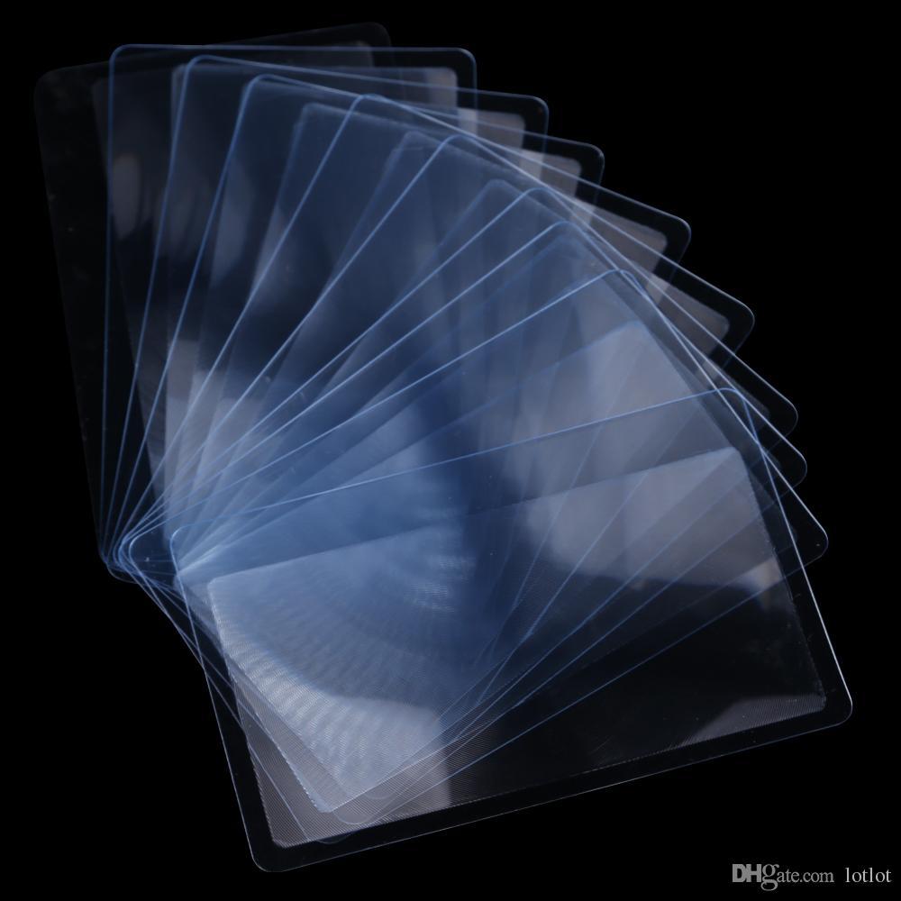 / set tamanho transparente Cartão de Crédito 3 lente X Magnifier Ampliação Ampliação Fresnel LENS Reading Magnifier Magnifier