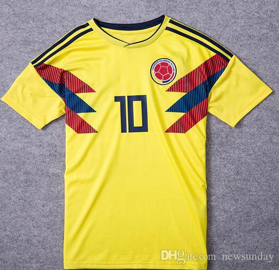 2019 Thai AAA National Team Colombia 2018 Home Soccer Jersey JAMES FALCAO  Soccer Uniform CUADRAD AGUILAR GUARIN SANCHEZ ESCOBAR Football Shirt From  ... 0715b03e7