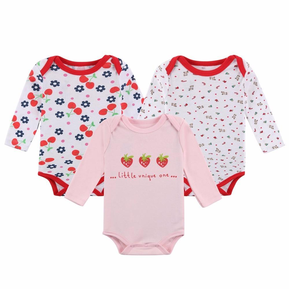7eb0e40d7771 2019 Newborn Toddler Baby Girl Outfits Clothes Bodysuit Set Long ...