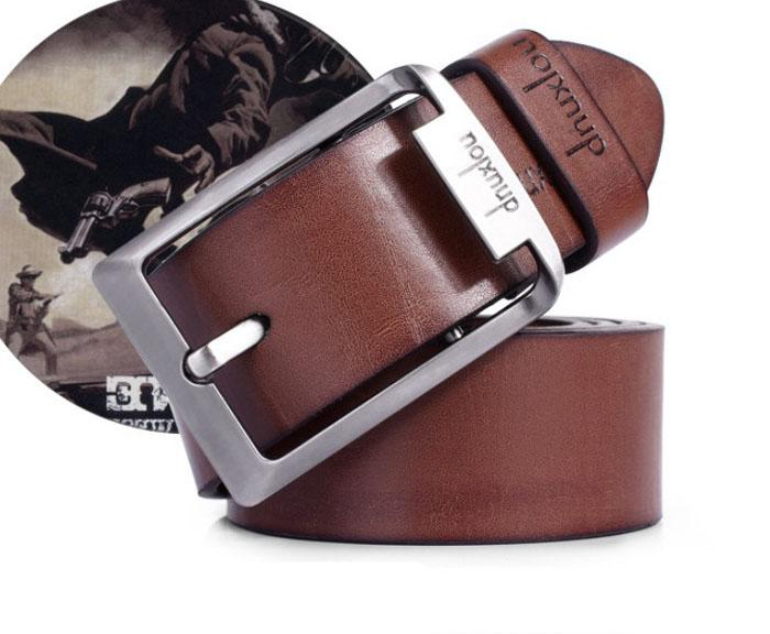 JU 14 Fairy Store 2016 Hot Selling New Mens Leather Single Prong Belt Business Casual Dress Metal Buckle