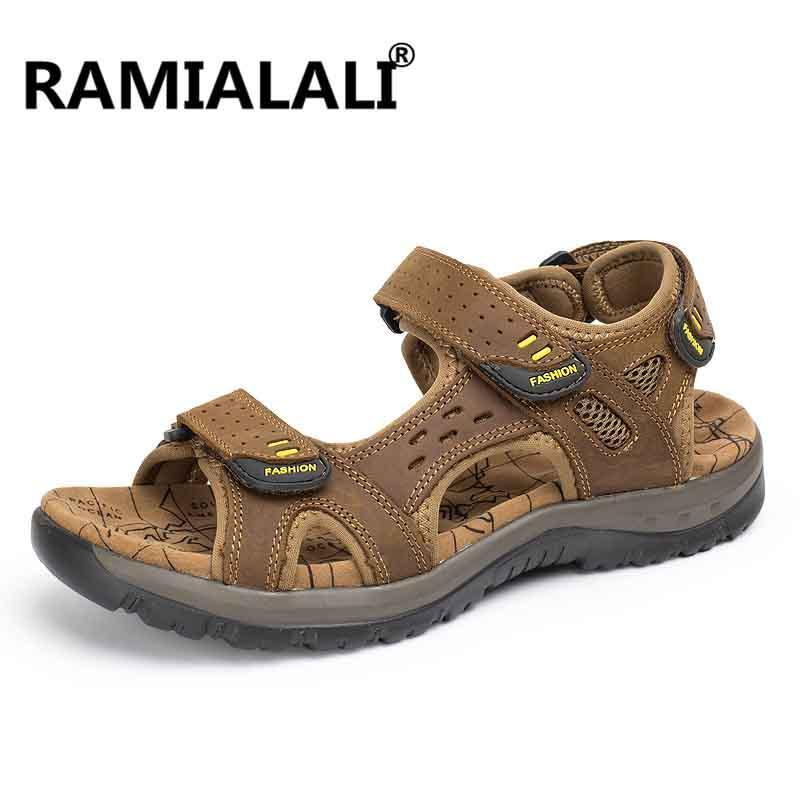 ecaf7c577af Ramialali Men Sandals 2018 Men Summer Breathable Water Shoes Male Casual  Beach Sandalias Shoes Flip Flops Zapatos Homme Wedge Sneakers Sandal From  Amoyshoes ...