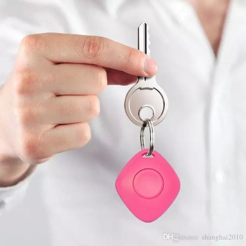 Mini Bluetooth 4.0 Trackers Alarme iTag Key Finder Enregistrement vocal Anti-perdu Tracker Selfie Obturateur NO GPS Tracker Pour ios Android