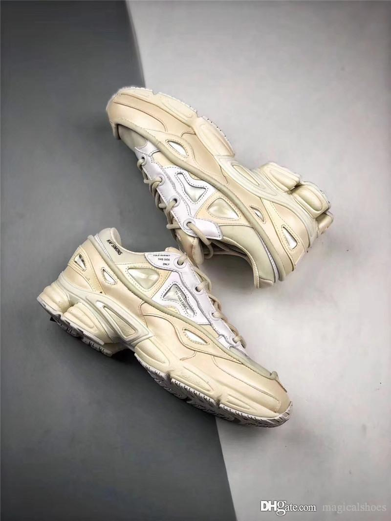 217c775425 2018 Raf Simons X Ozweego 3 Bunny Cream Running Shoes For Men Real Leather  Authentic Sports Sneakers With Orginal Box Best Quality Shop Shoes Men Shoes  On ...