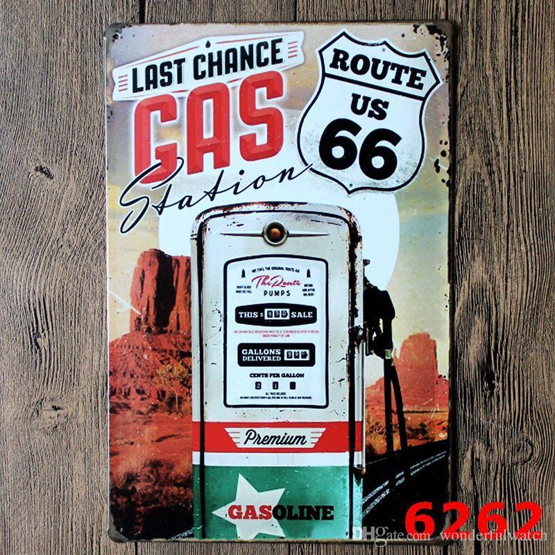Route 66 Design Estilo Vintage Ferro Pintura Para Sala de estar Decoração Criativa Tin Poster Criar Latas de Atmosfera Sinal 20 * 30 cm H401