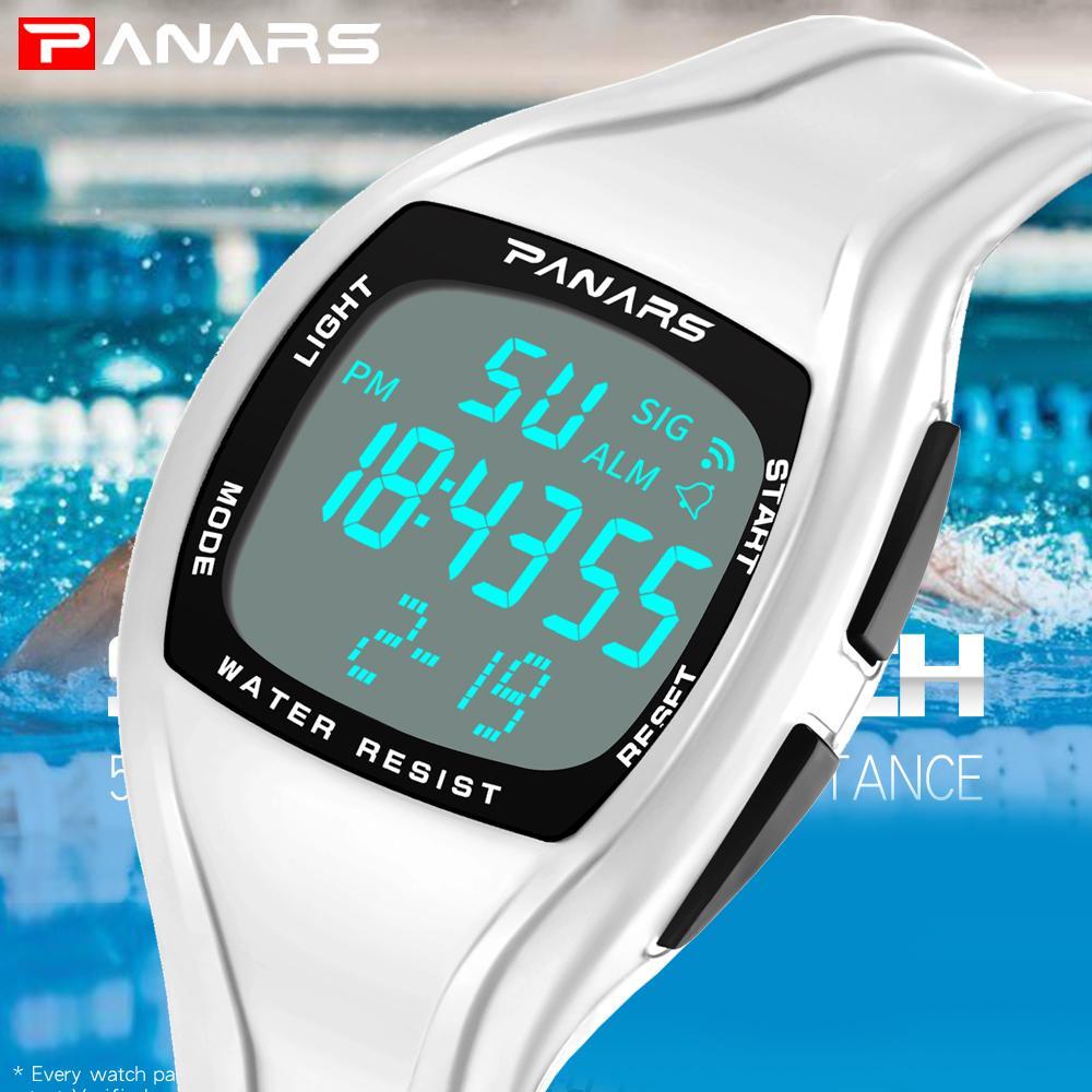 578b5cec8505 Compre PANARS Hombres Reloj Deportivo De Primeras Marcas De Lujo Relojes  Digitales LED Para Hombre Relojes Blancos Relojes Deportivos Relojes  Cronómetro A ...
