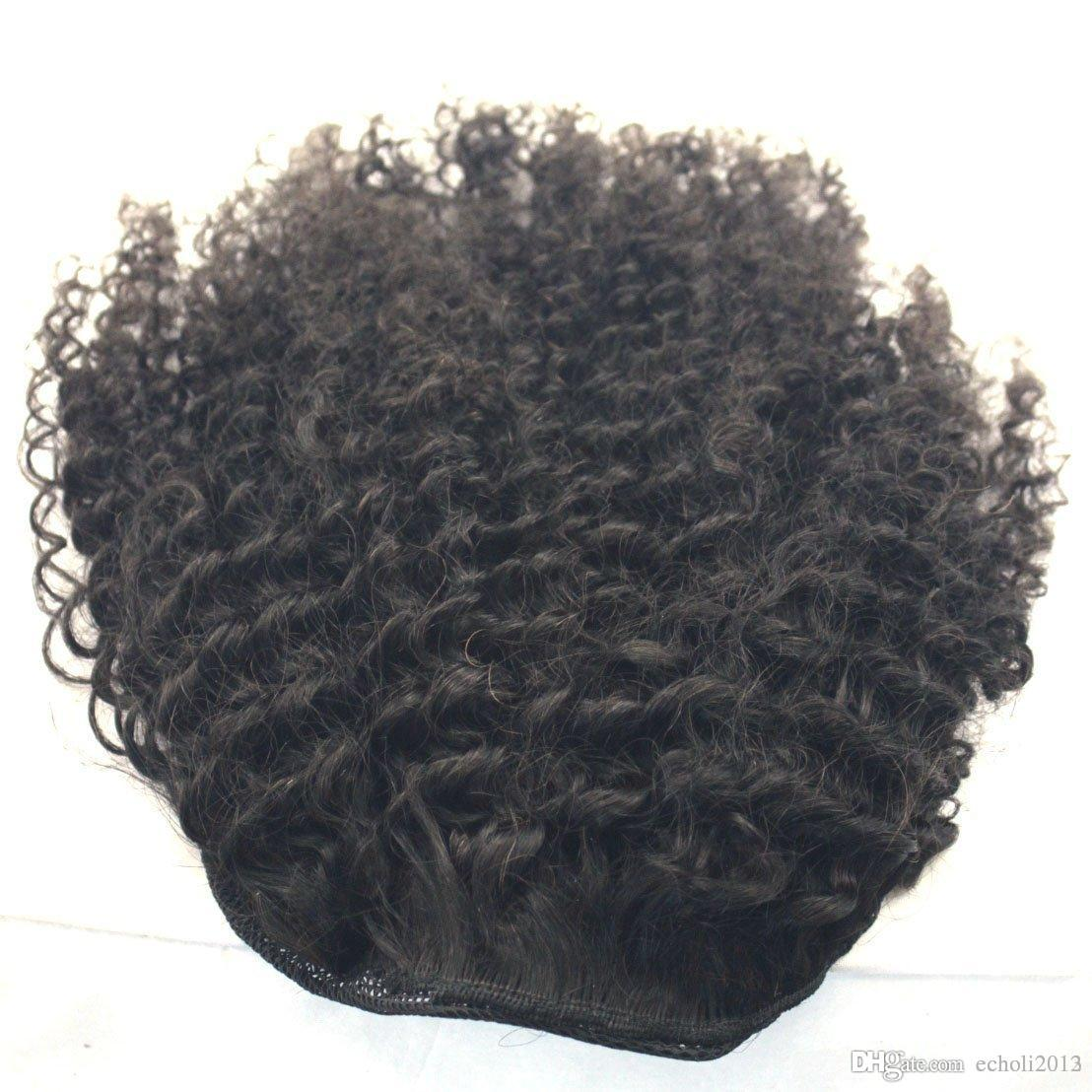 Real Human Brazilian kinky curly Ponytail for black women Drawstring Ponytail Human Hair Clip in Pony Tail hair extensions
