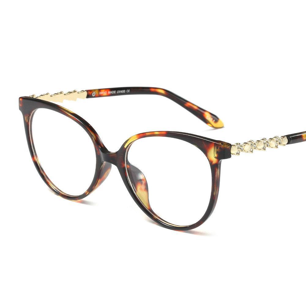 4f791ba566 2019 Fashion Eyewear Frames Optical Myopia Clear Lens Glasses Frame Female  Diamond Square Spectacle Frame Eyeglasses Women Brand FML From Xailiang