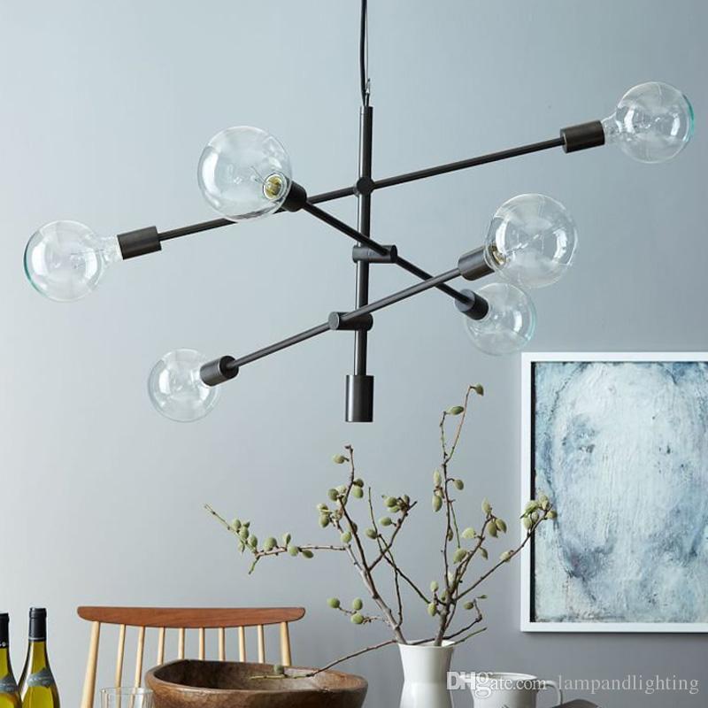 Elegante diseño nórdico color vintage color metal colgante ligero E27 LED bombilla colgante lámpara lustre metal iluminación de la sala de estar