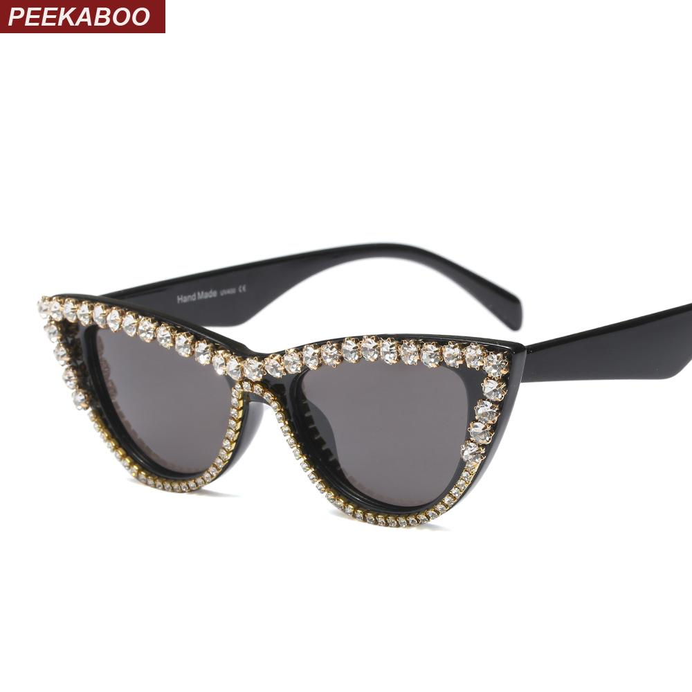 2fbf5a3928 Wholesale Rhinestone Cat Eye Sunglasses Women Luxury 2018 Party Sexy Ladies  Sun Glasses Cat Eye Uv400 Leopard Black White Online with  29.24 Piece on  ...