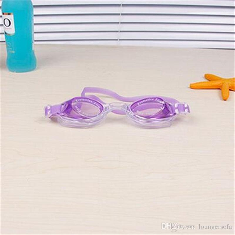 Water Sports Antifog Swimming Goggles Children Diving Glasses Silicone Adjustable Colorful Kid Eyewear Bardian Large Frame 3 4dh Y