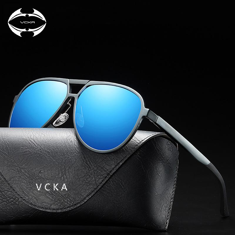c2bf4d6bd1a4 VCKA Retro Aluminum Magnesium Brand Men s Sunglasses Polarized Lens Vintage  Eyewear Accessories Sun Glasses For Men Sunglasses Cheap Sunglasses VCKA  Retro ...