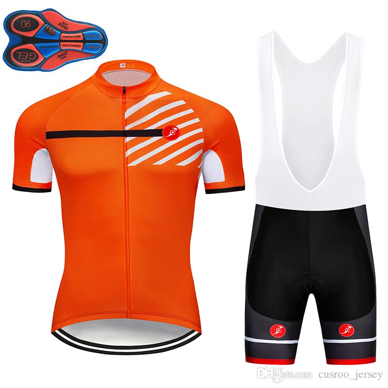 2018 Orange Summer Quick Dry Cycling Jersey Bike Riding Clothing 9D ... 2e8c95baf