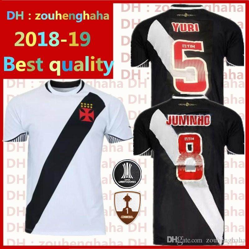 5d860d6ba8b50 Vasco Da Gama RJ Soccer Jerseys 2018 2019 Home Away Black White ...