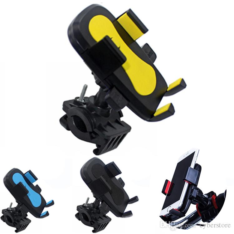 Universal Bike Phone Mount Bicycle Rack Handlebar Cradle Clamp 360 Rotation Anti Shake Stable Motorcycle Holder for iPhone Samsung LG Huawei
