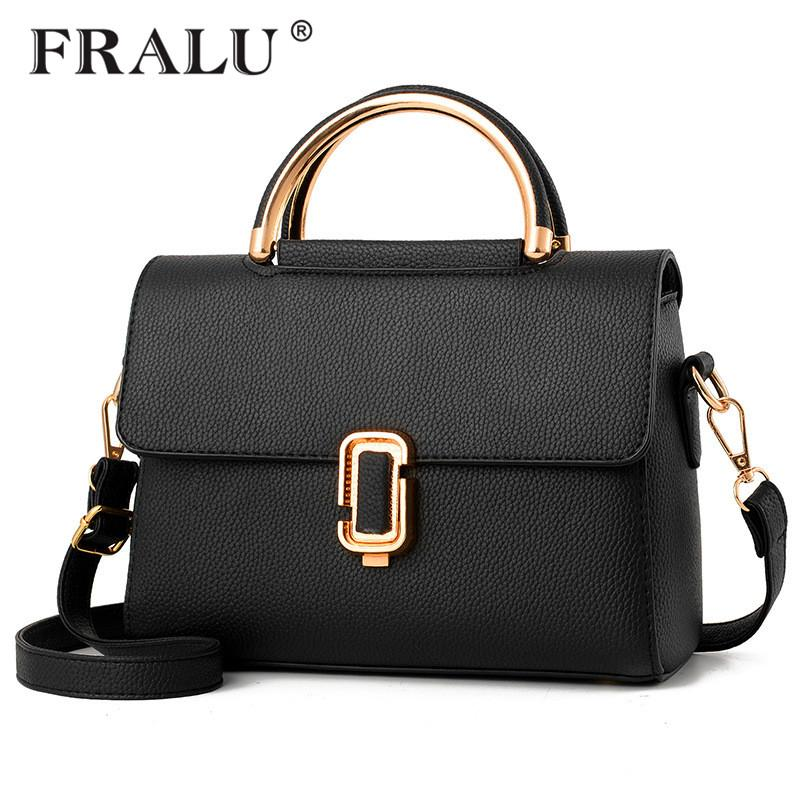 c90bd4e77ef6 FRALU Women Bag Pu Leather Tote Brand Name Bag Ladies Handbag Lady Evening  Bags Solid Female Messenger Bags Travel Fashion Sac Womens Handbags Toting  From ...