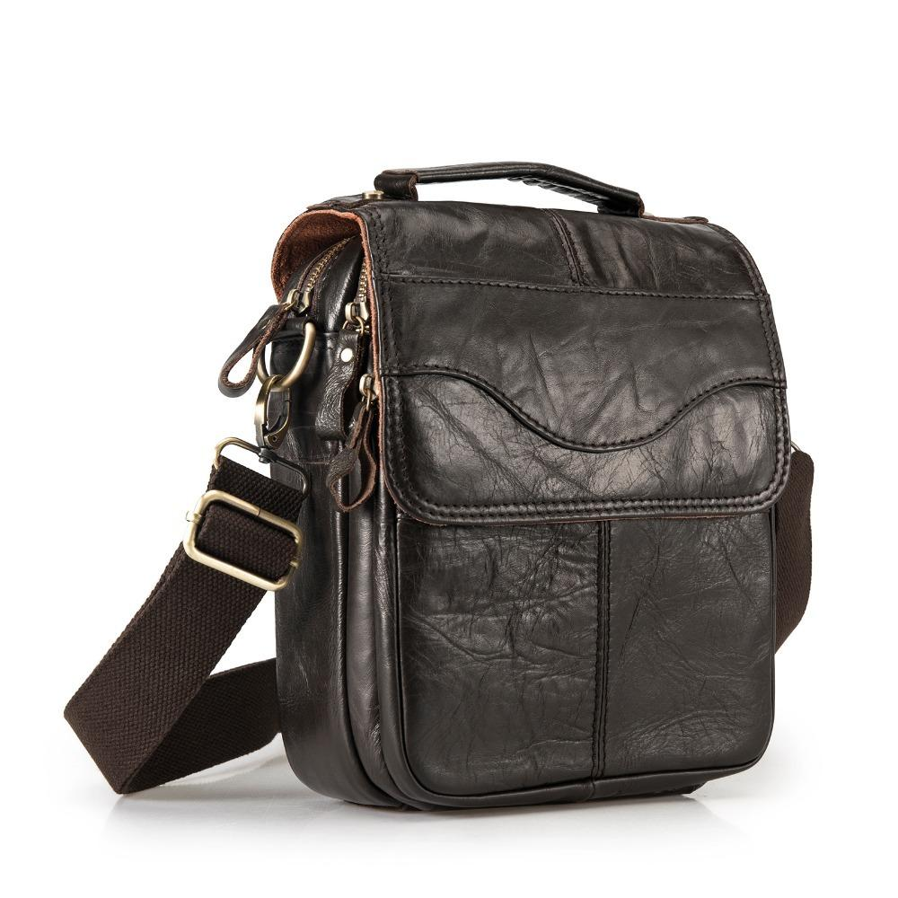 92a23fec8d31f Quality Original Leather Male Casual Shoulder Messenger Bag Cowhide Fashion  Cross Body Bag 8 Pad Tote Mochila Satchel Bag 144 S914 Name Brand Purses  Handbag ...