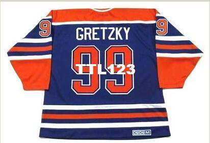 4cebad736 2019 Men  99 WAYNE GRETZKY Edmonton Oilers 1987 CCM Vintage Away Hockey  Jersey Or Custom Any Name Or Number Retro Jersey From Ttl123