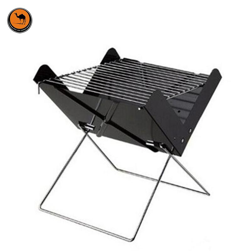 6cd1705f660 2019 More Convenient Black Iron X Style Foldable BBQ Oven Outdoor Portable Barbecue  Charcoal Grill Can Fits For 3 5 Person From Anzhuhua