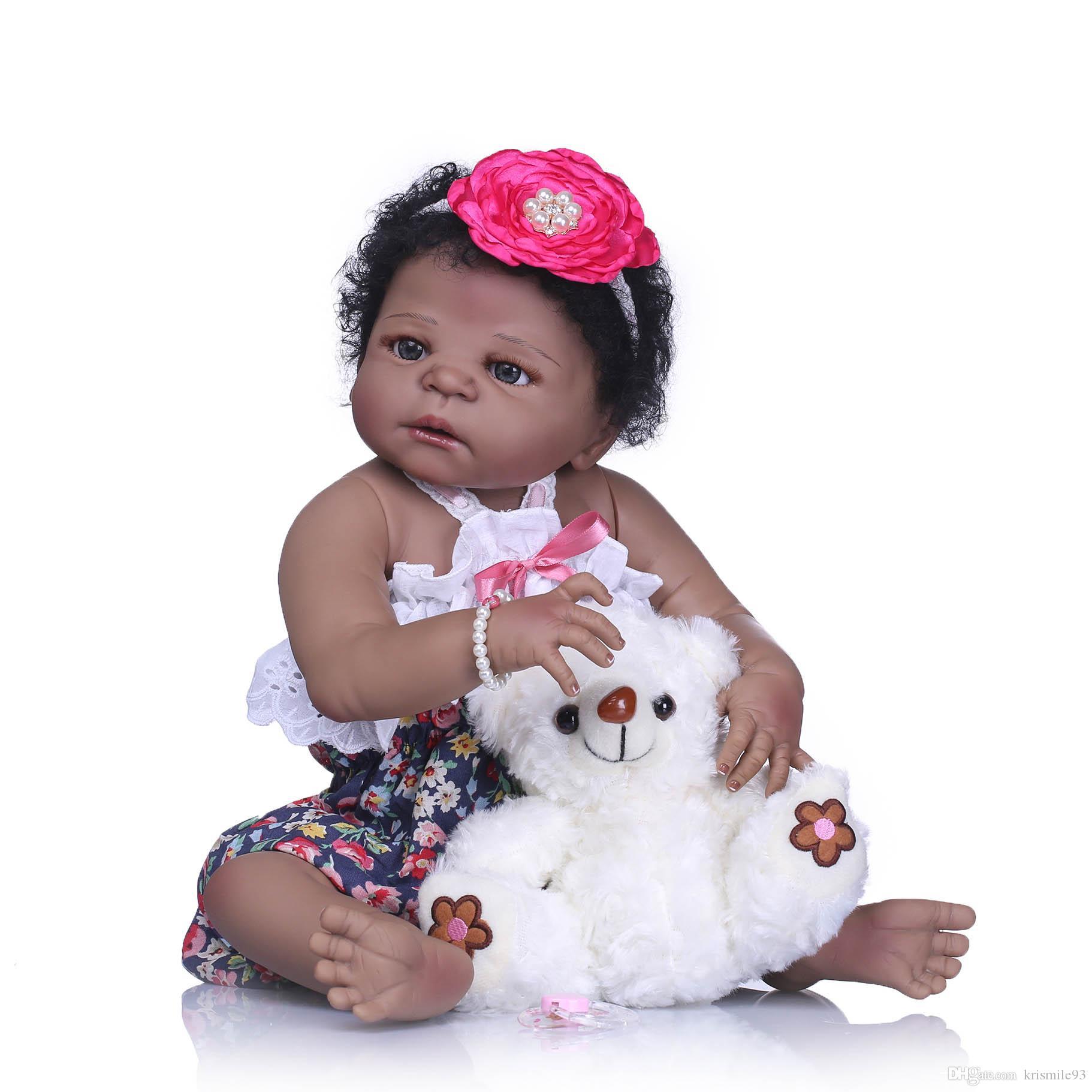 Babypuppen & Zubehör Realistische Baby Soft Vinyl Girl Puppe Newborn Puppen in grüner Kleidung